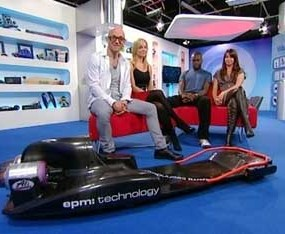 Gadget Show - jet powered luge