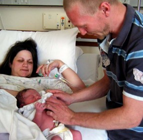 Theresa Wright who had six miscarriages before finally giving birth to two baby boys within the space of a year