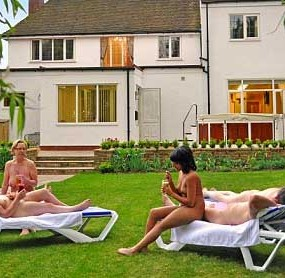 Owner Tim Higgs has fulfilled a naked ambition - by turning the detached family home into the city's first NATURIST hotel.