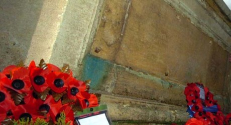 SHAMELESS thieves have stolen two metal plates bearing the names of dozens of war heroes from a memorial.