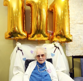 111-year-old is one of the oldest lives people