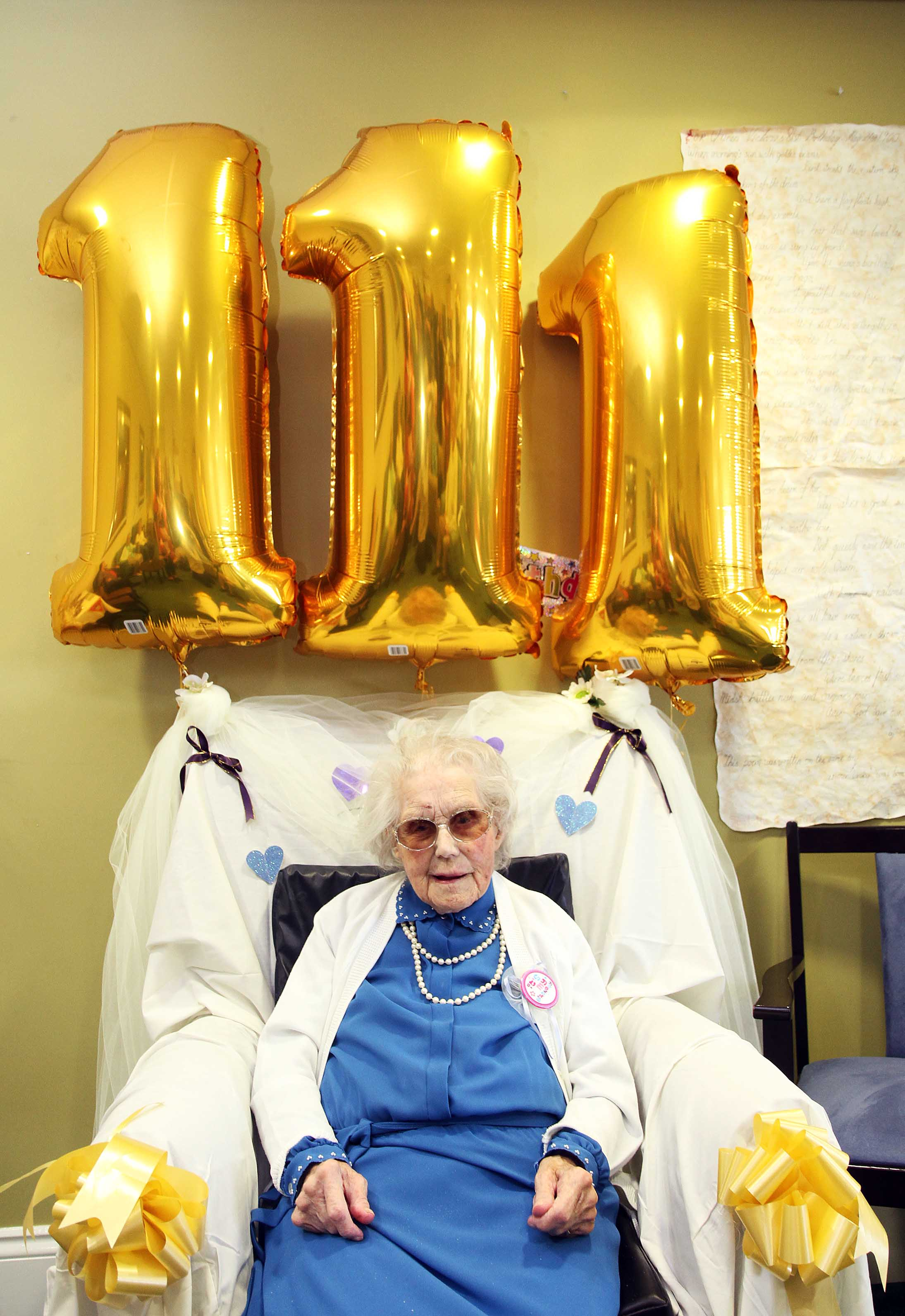 111-year-old women celebrates birthday