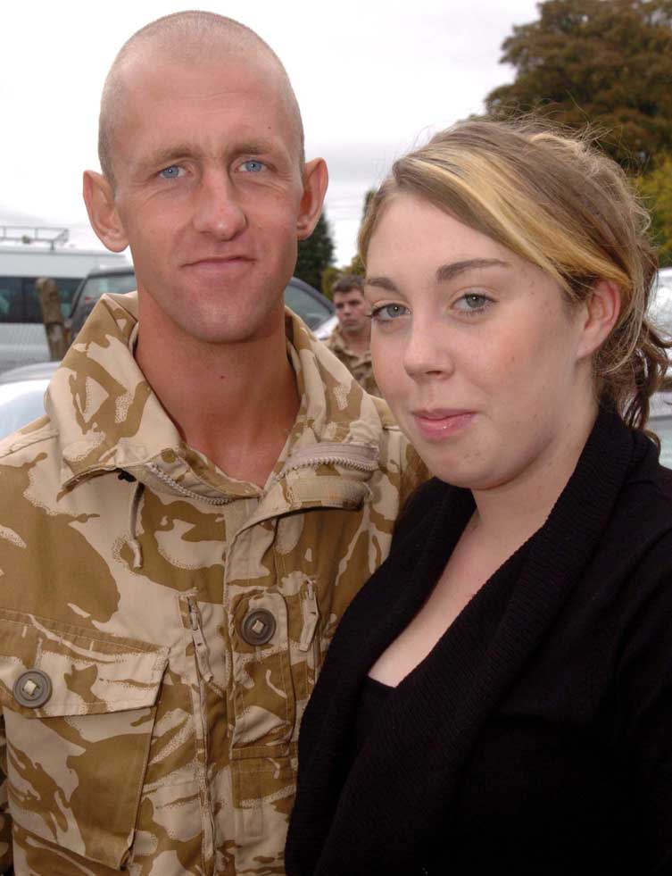 War widow suffers loss of husband and baby
