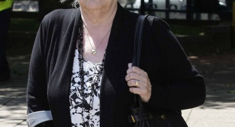 Margaret 'Joan' Gronow pictured during her husbands inquest at Coventry Magistrates Court