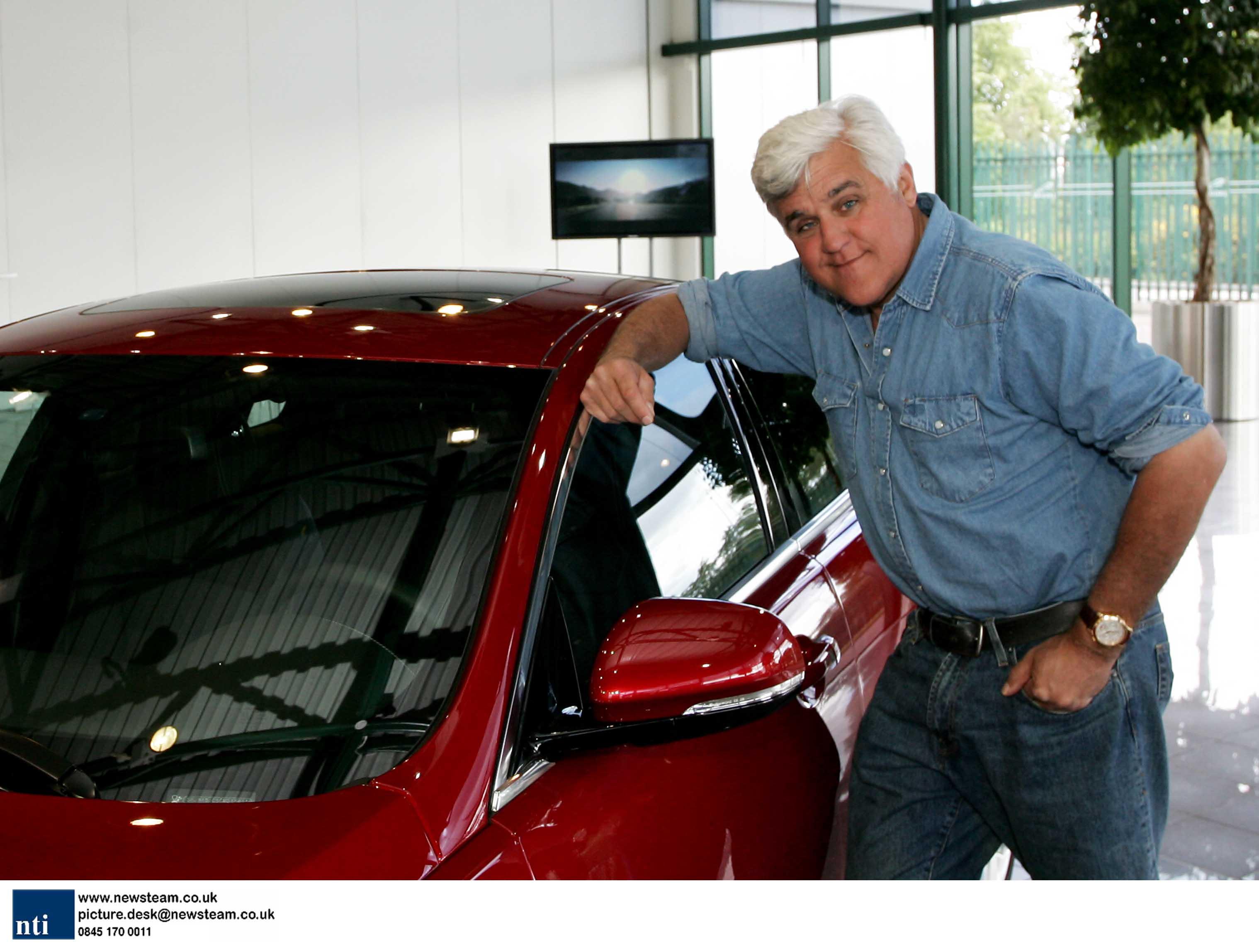 Jay Leno visits Jaguar Land Rover