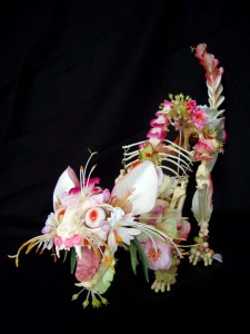 Artist dresses up animal and human skeletons