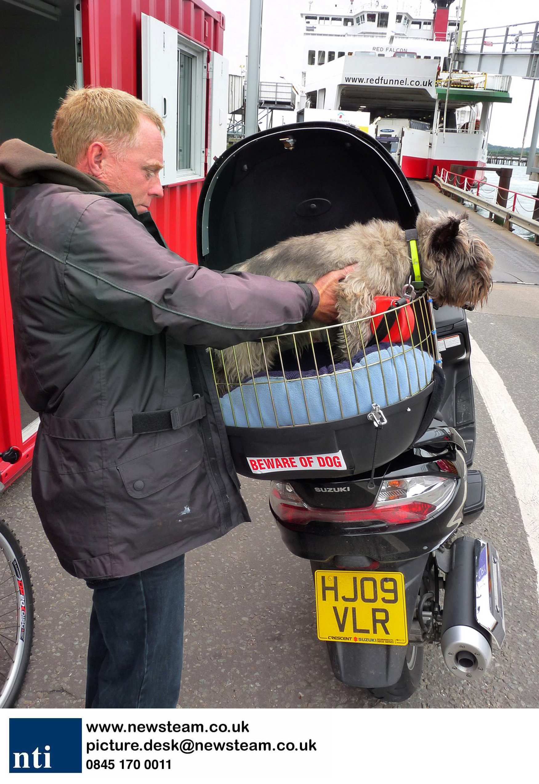 Motorbike dog box inventor