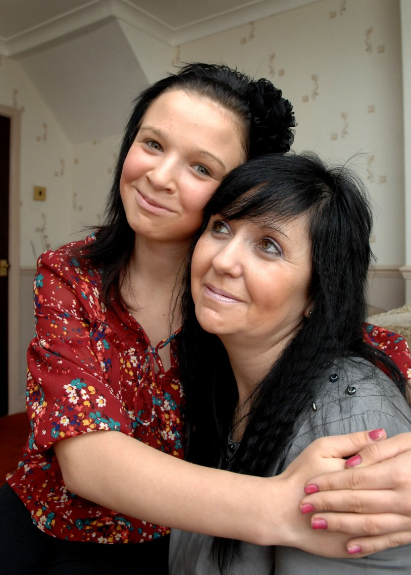 Brave schoolgirl saves mum's life