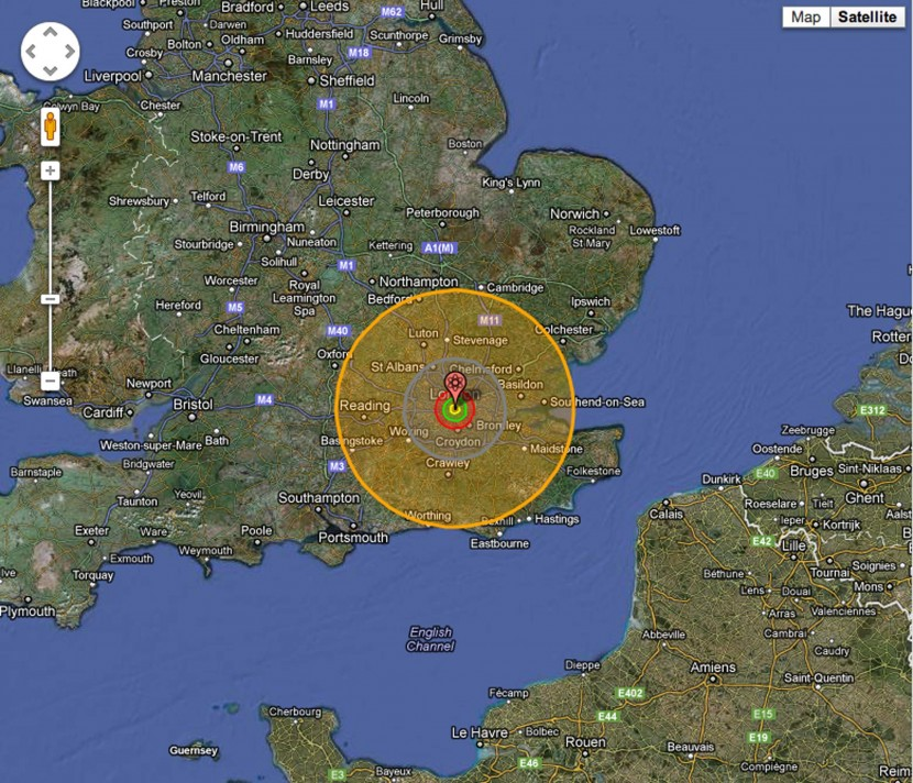 'Nuke map' shows true scale of nuclear war