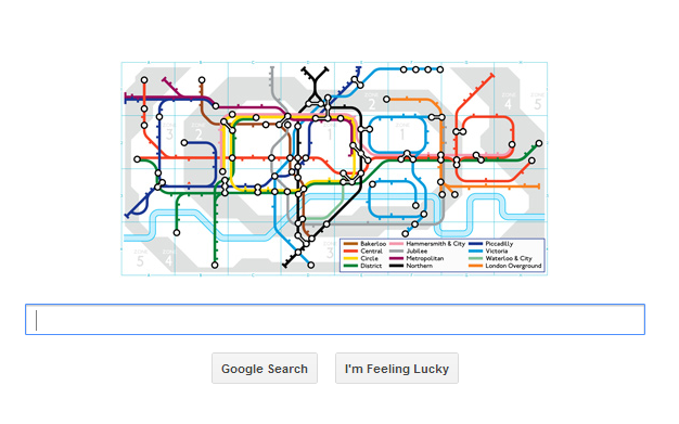 Google Doodle celebrates 150th anniversary of the London Underground