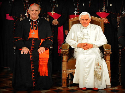 Cardinal Keith O&#039;Brien and Pope Benedict XVI