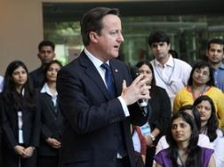 Cameron leads massive trade delegation to India