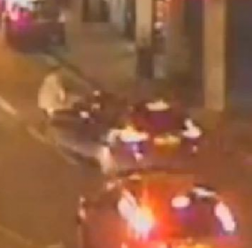 CCTV footage of a hit and run incident involving a toddler