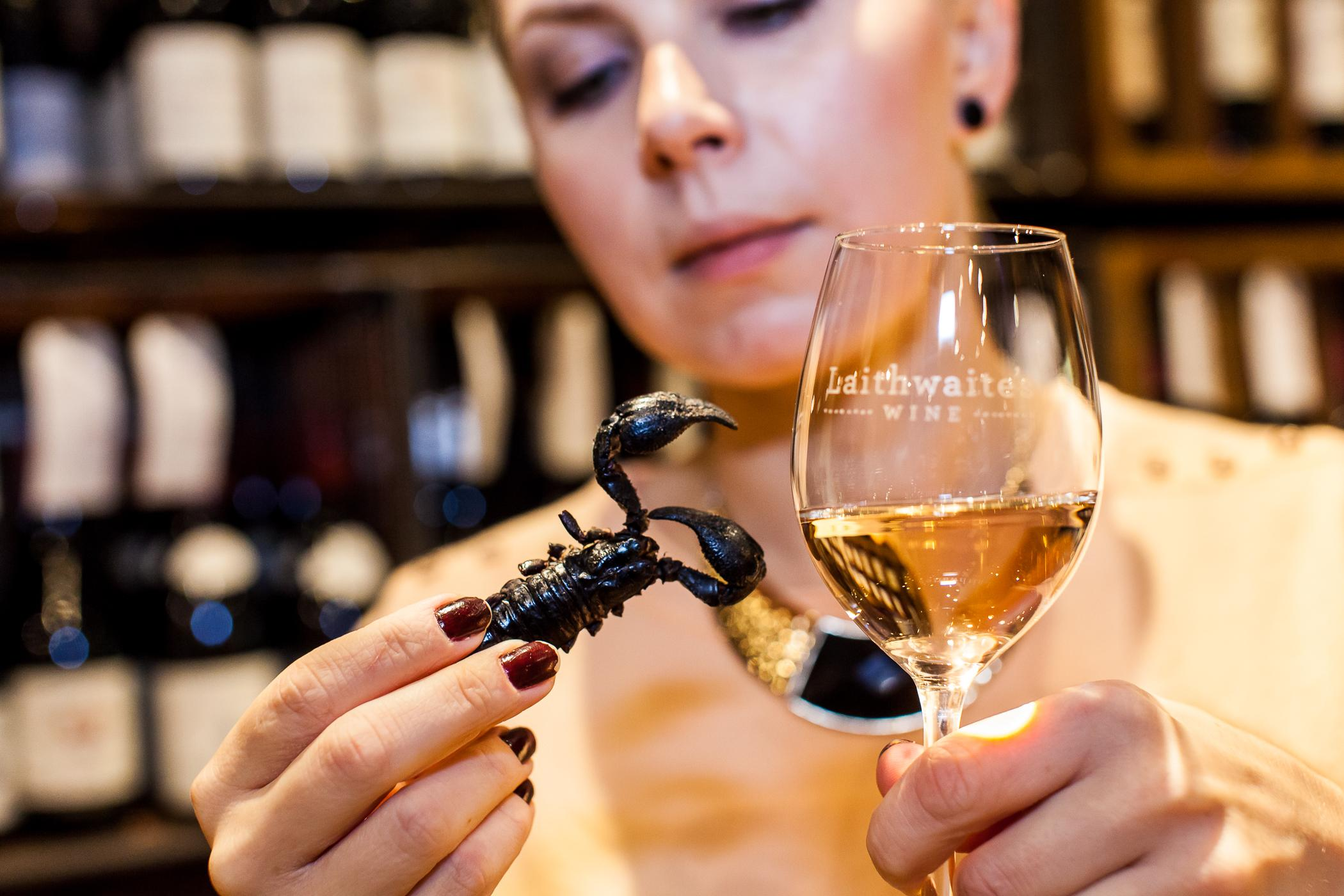 Wine with insects - 2