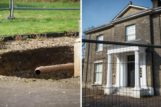 20FT SINKHOLE APPEARS IN NORWICH GARDENS