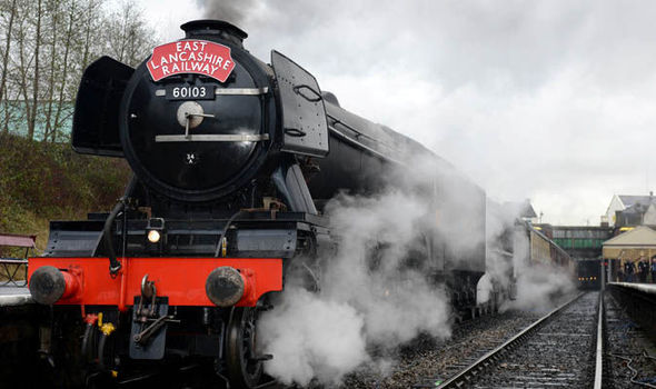 FLYING SCOTSMAN PLANS CANCELLED OVER FEARS FANS WILL STORM LINE AGAIN