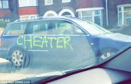 LOVER TAKES REVENGE BY SPRAY PAINTING 'LIAR' AND 'CHEAT' ON CAR
