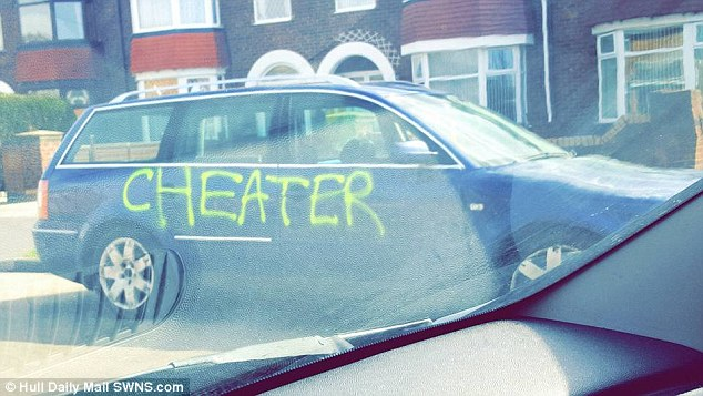 LOVER TAKES REVENGE BY SPRAY PAINTING LIAR AND CHEAT ON CAR