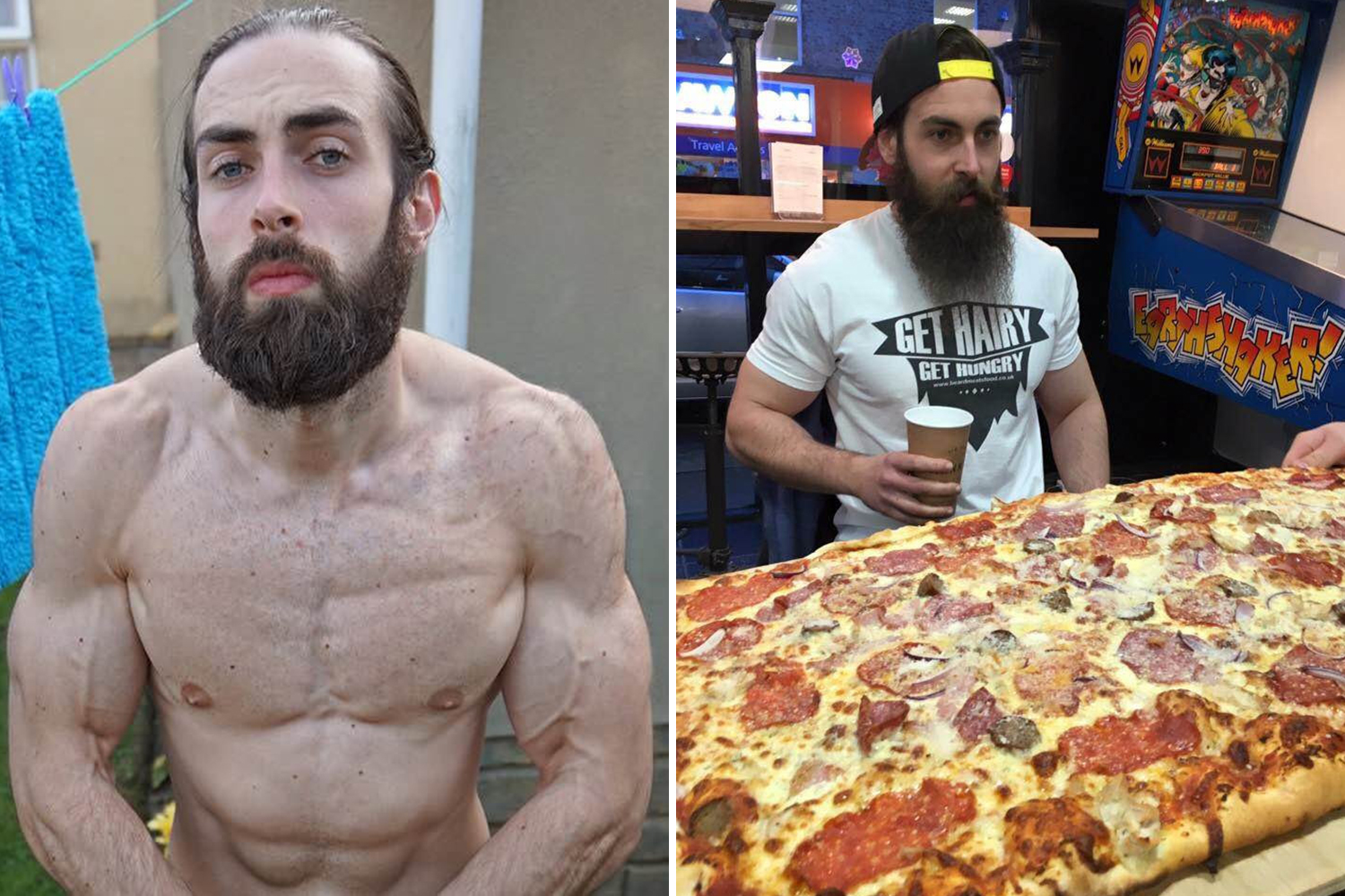 MAN GETS BODY FAT DOWN TO EIGHT PER CENT BY GORGING ON JUNK FOOD