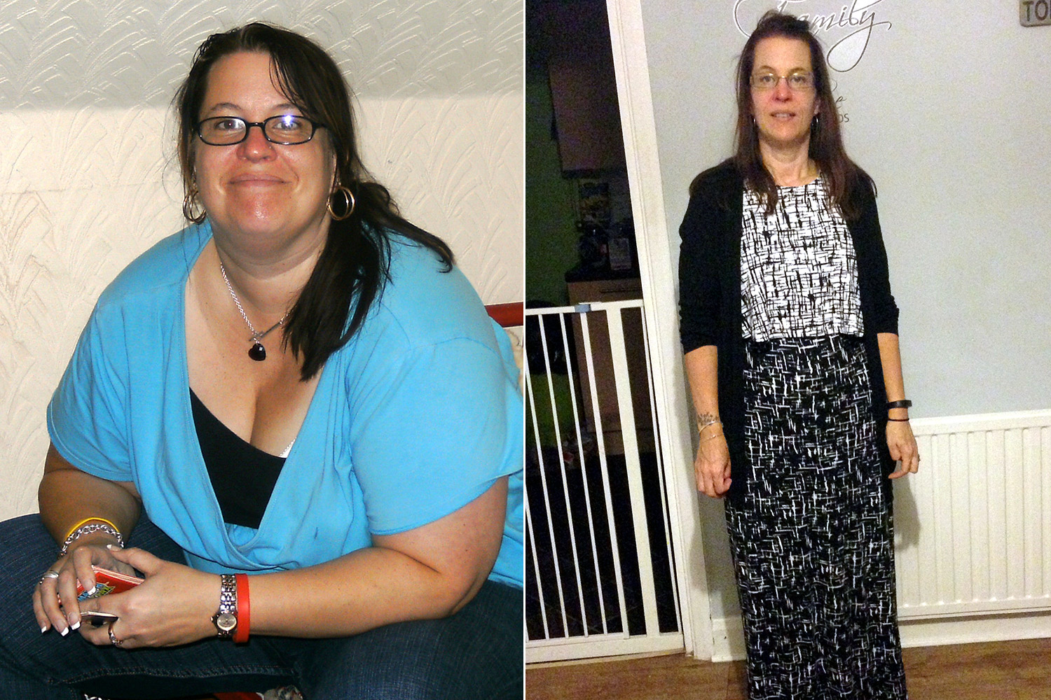 MUM SWAPS SNACKING FOR KNITTING TO SHED HALF HER BODY WEIGHT