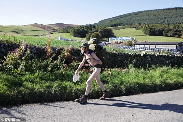 NAKED RAMBLER QUITS TO LOOK AFTER HIS MUM SO CAN TAKE HER FOR WALKS