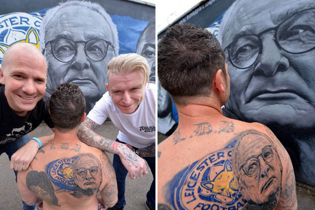 FOXES FAN GETS LIFE-SIZED TATTOO OF CLAUDIO RANIERI