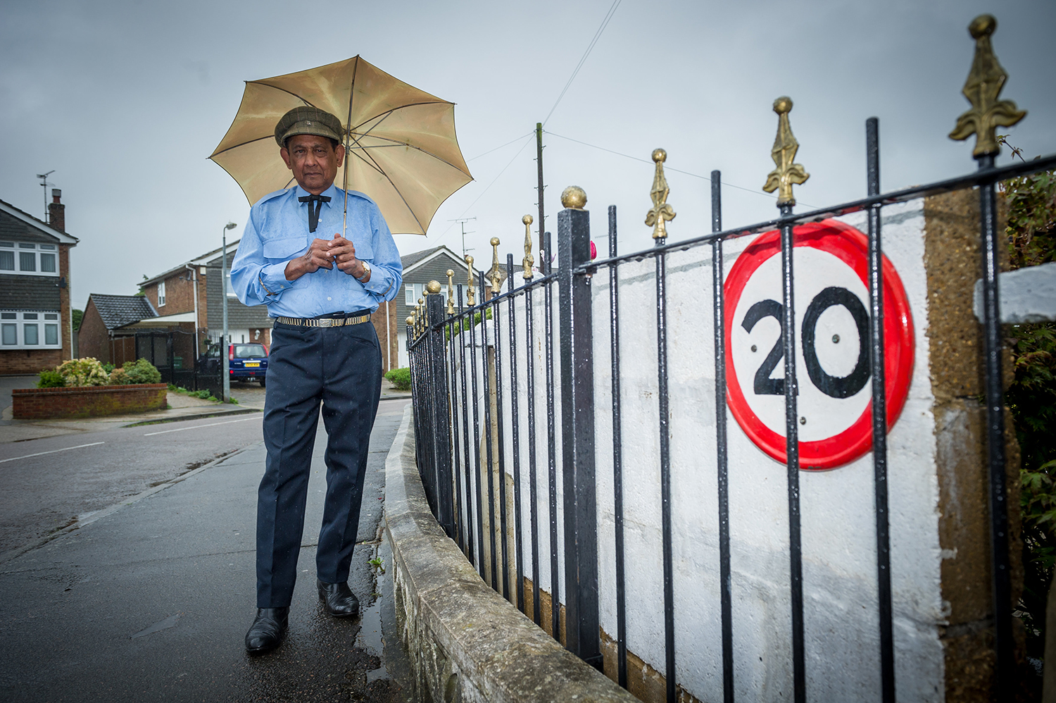 PENSIONER SPENDS £12K ON BARRIER TO PROTECT HIS HOME AFTER 13 CRASHES