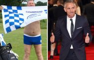 FOXES FAN CALLS OUT GARY LINEKER – BY PLAYING GOLF IN HIS PANTS