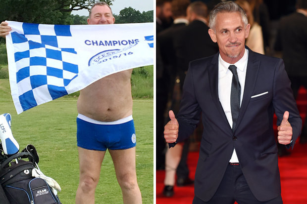 FOXES FAN CALLS OUT GARY LINEKER - BY PLAYING GOLF IN HIS PANTS