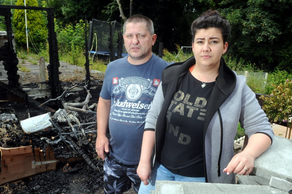 POLICE HUNTING ARSONISTS WHO SET FIRE TO POLISH FAMILY'S SHED