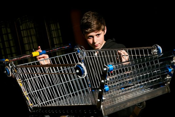 SCHOOLBOY INVENTOR'S PRIDE AFTER ENGINEERS BUILD TROLLEY INSPIRED BY HIS WEAK GRAN
