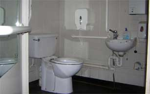 Toilet used for work meeting