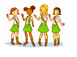 More girls join scouts for first time in history