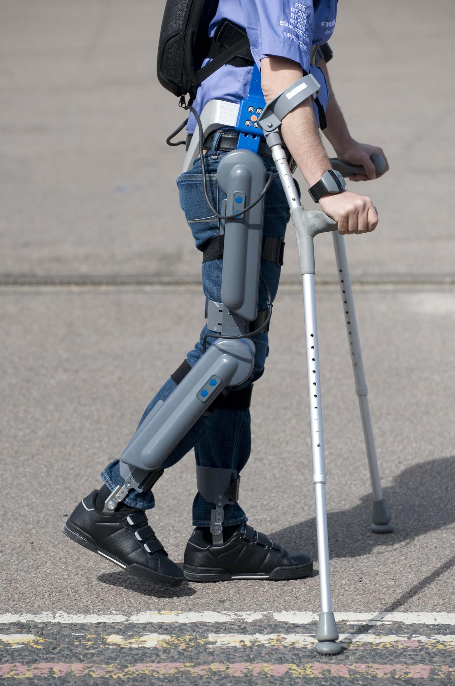 Revolutionary exoskeleton helps soldiers walk again