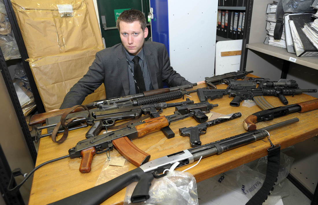 Fruite and veg trader found with deadly weapons collection