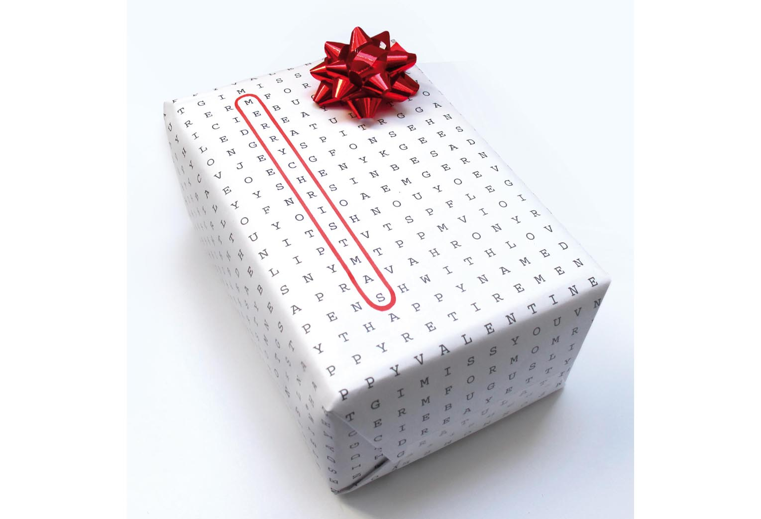Word-search wrapping paper for every occasion