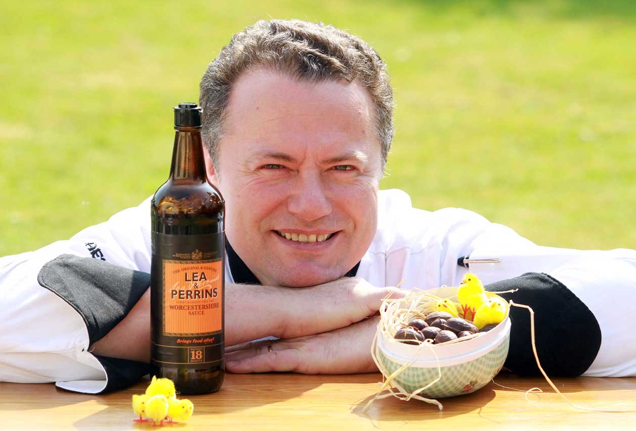 A curious chef has created a bizarre WORCESTER-SAUCE Easter egg