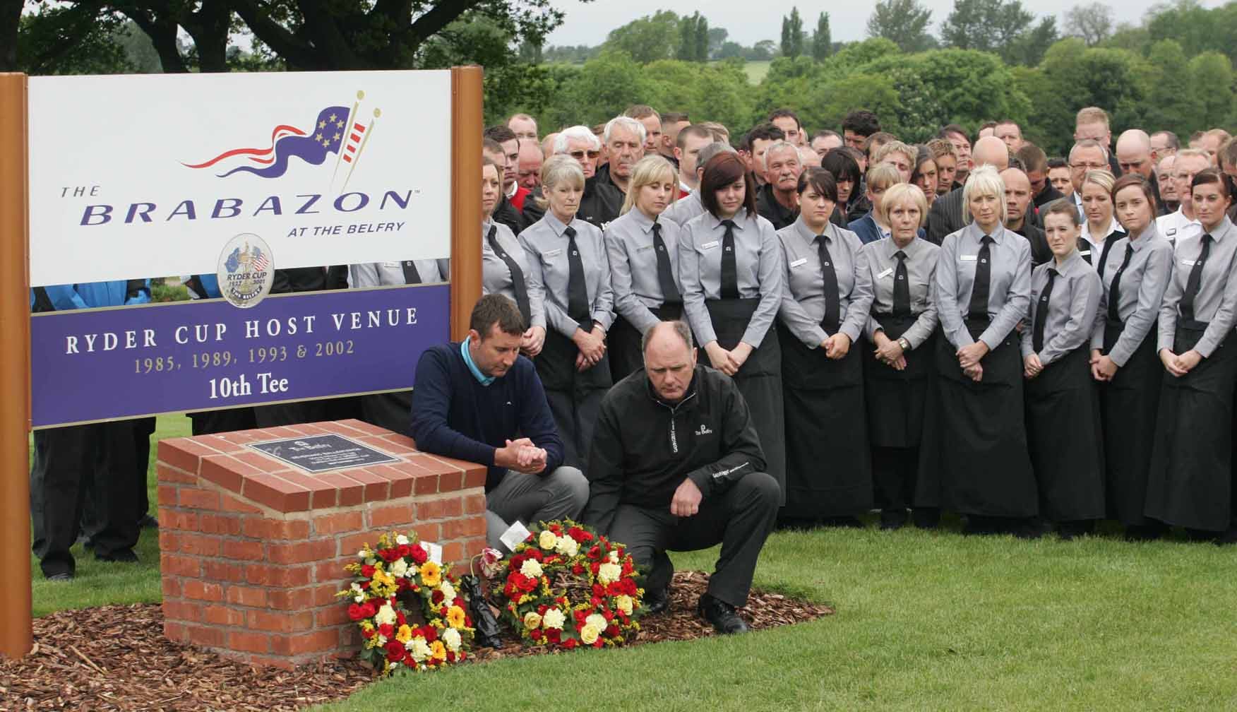 Minutes silence at the Belfry for Ballesteros