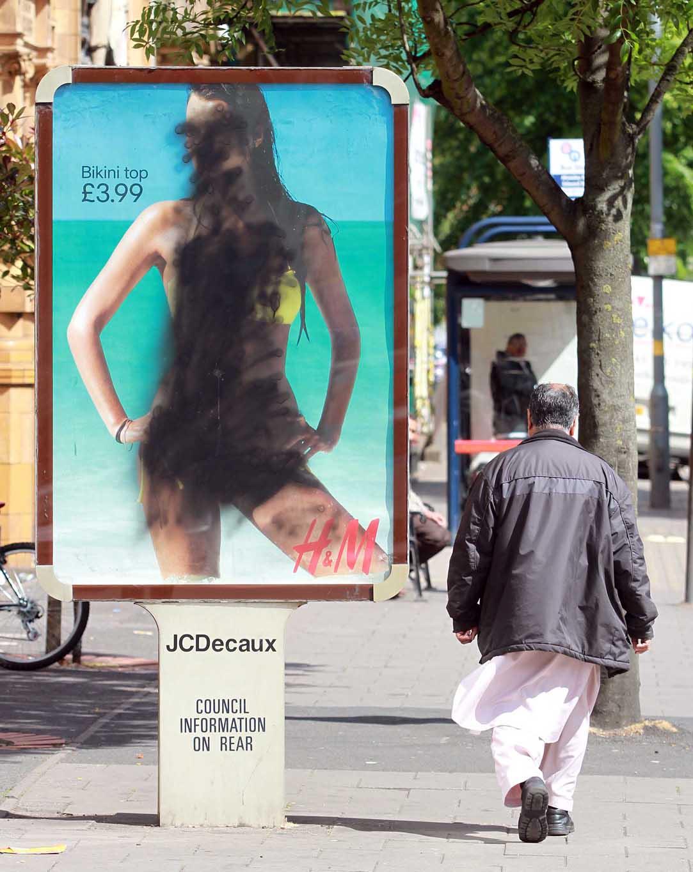 Burkini Billboard Vandalism