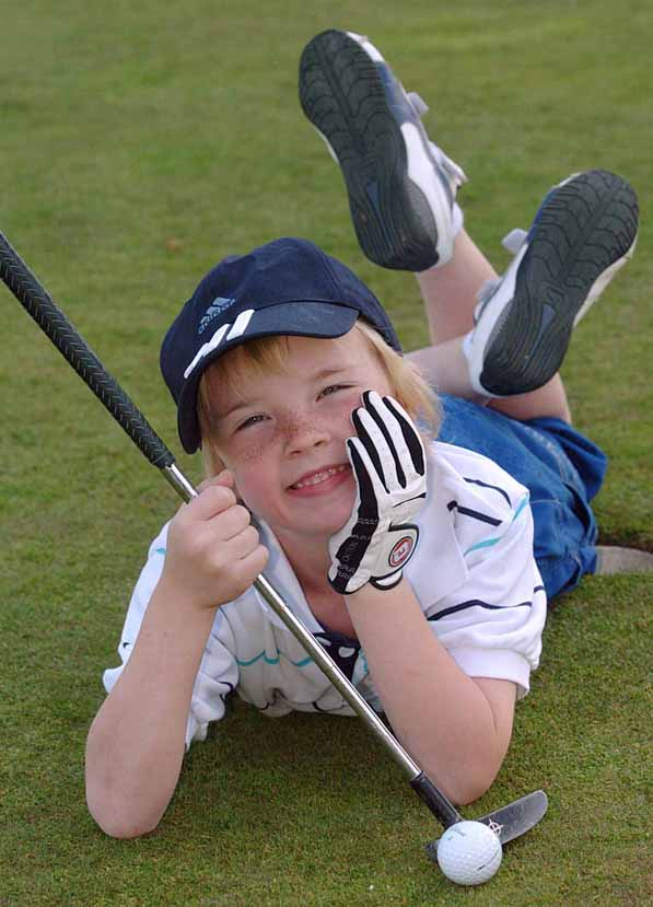 Six year old golfer qualifies for international tournament