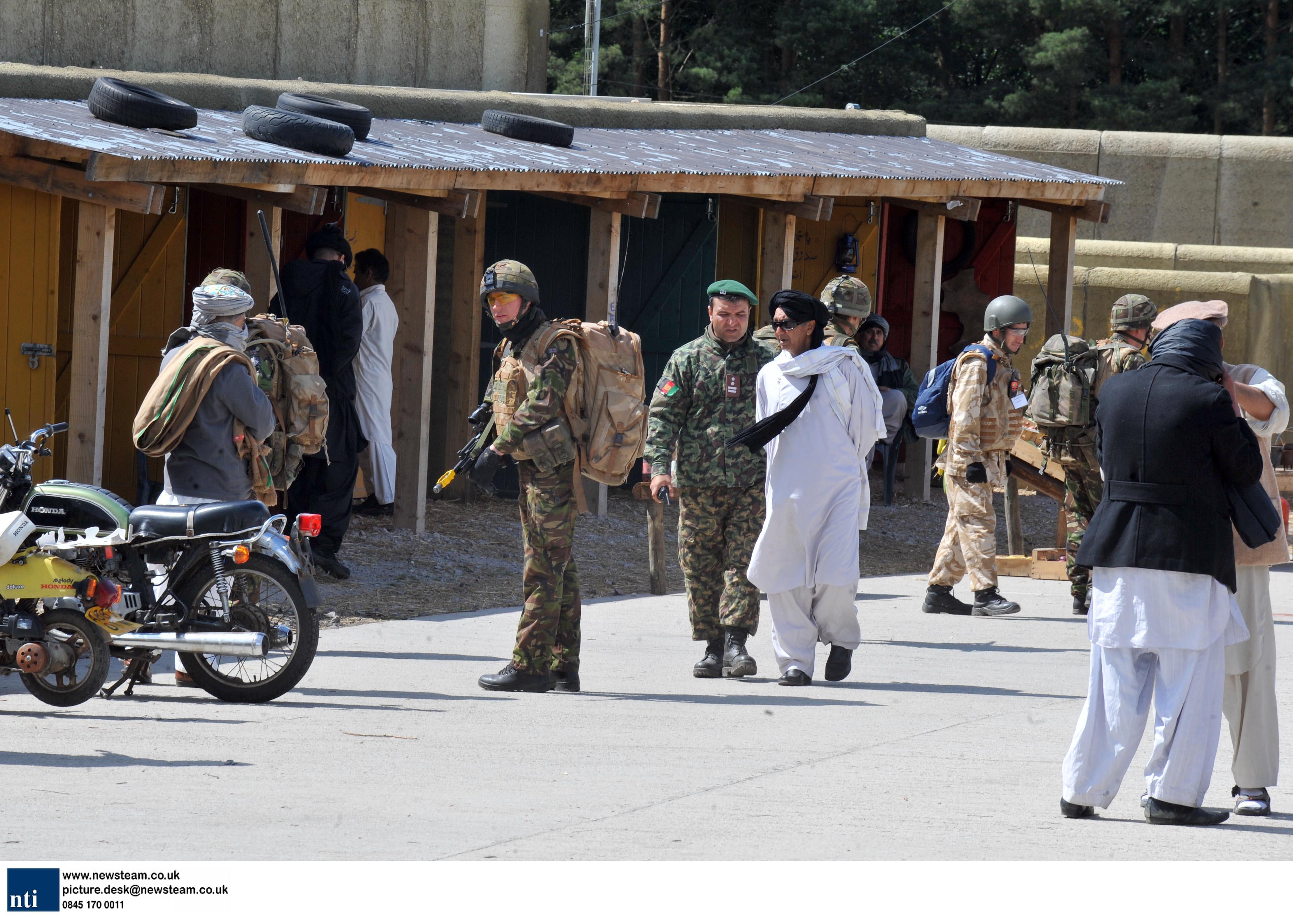 Troops train at Afghan village in Norfolk