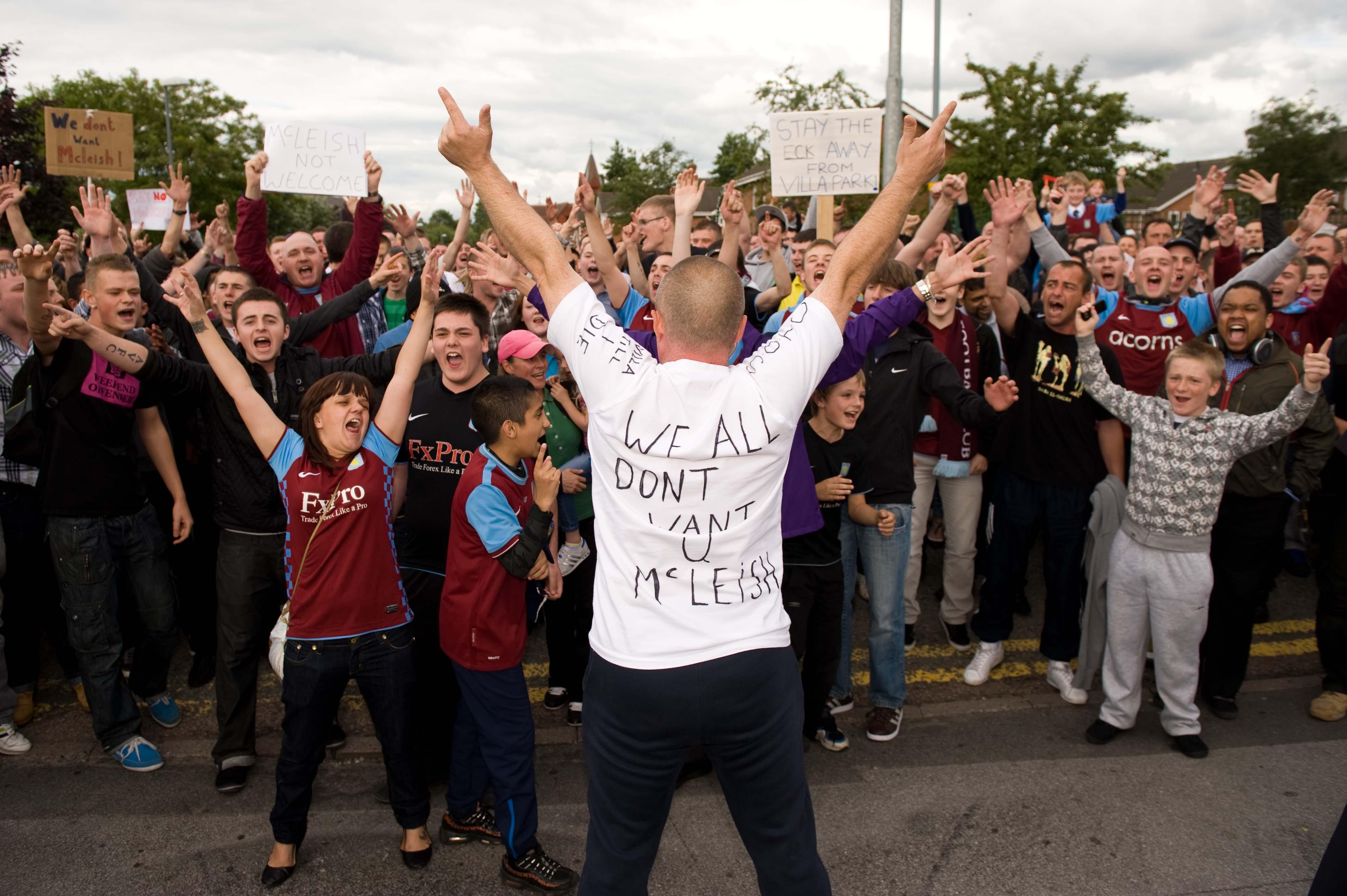 Villa fans protest over McLeish