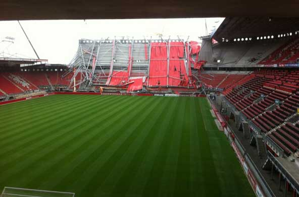 Twente's stadium roof collapse