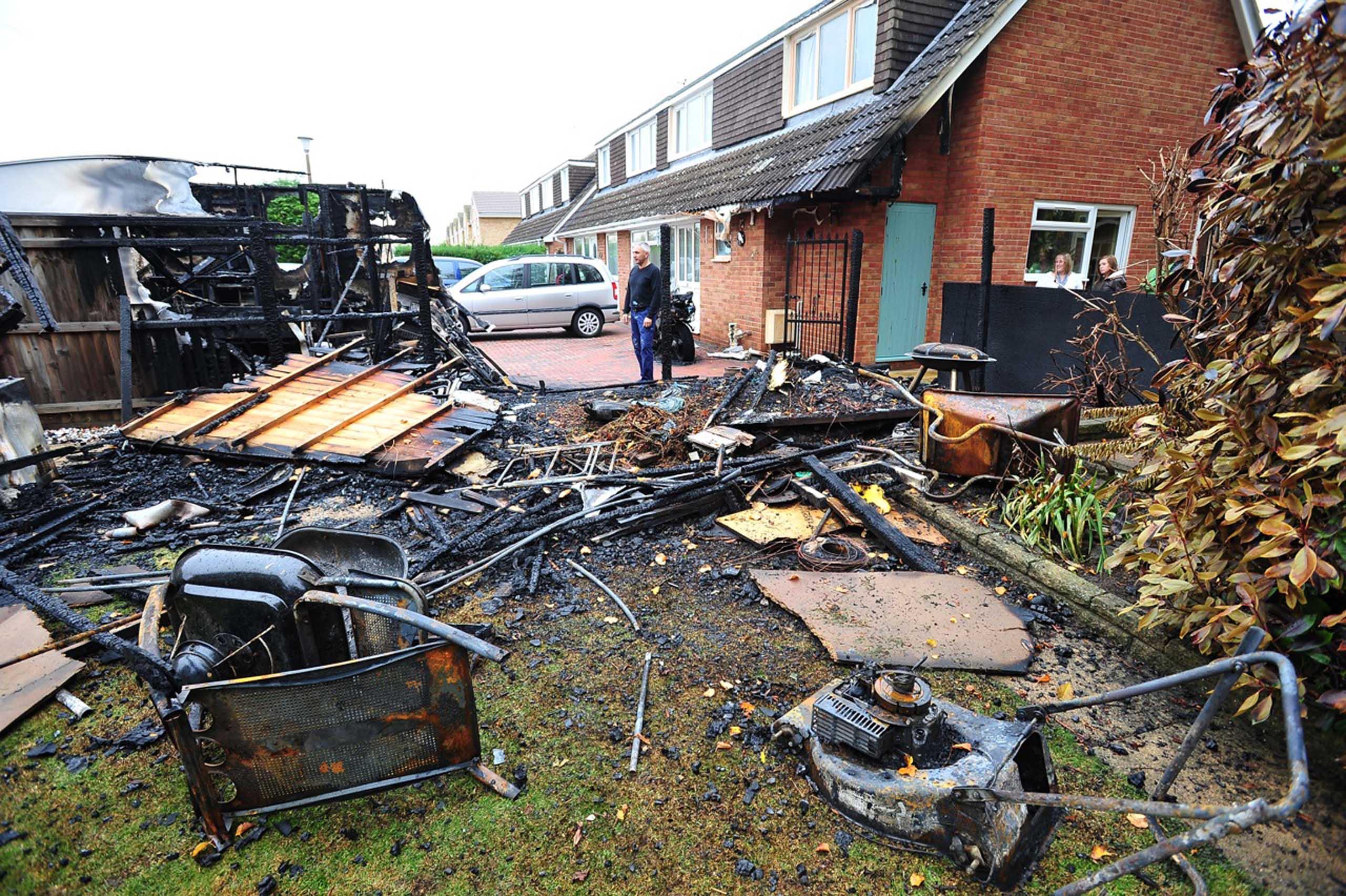 Mans lawnmower destroys his garden