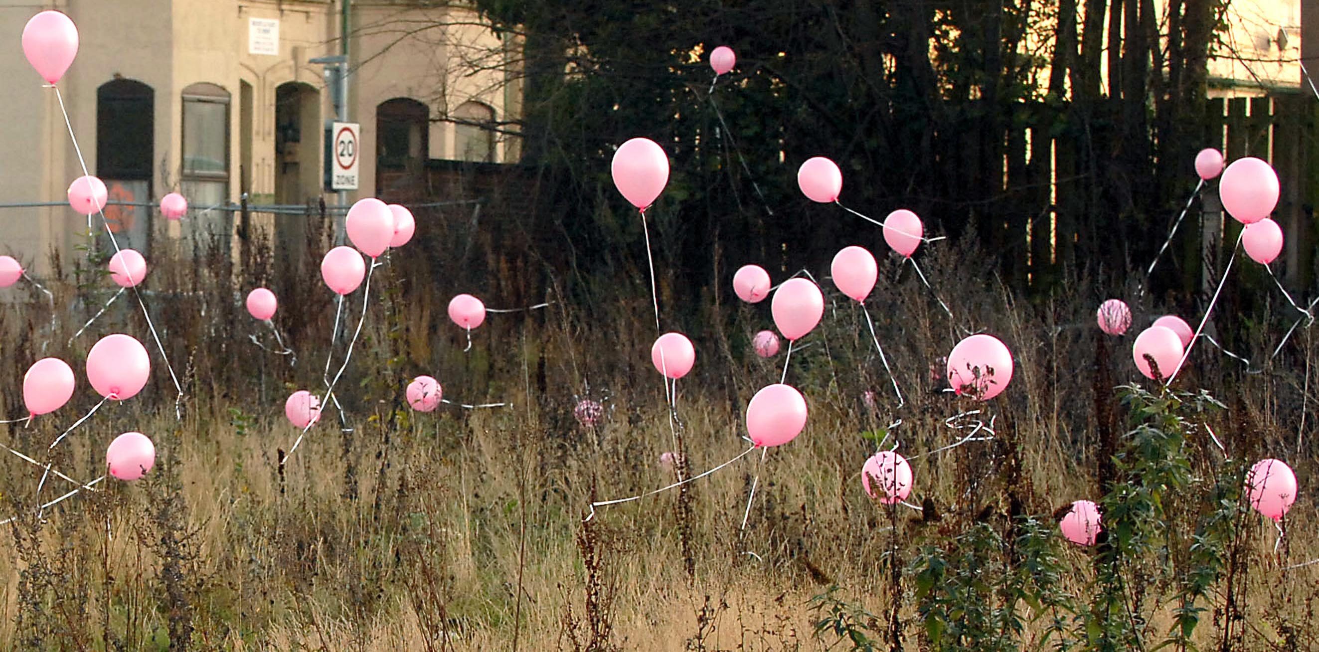 Mystery surrounds pink balloons