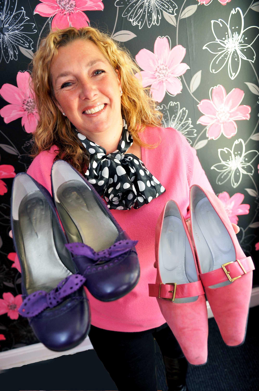 Businesswomen opens shoe shop for women with massive feet