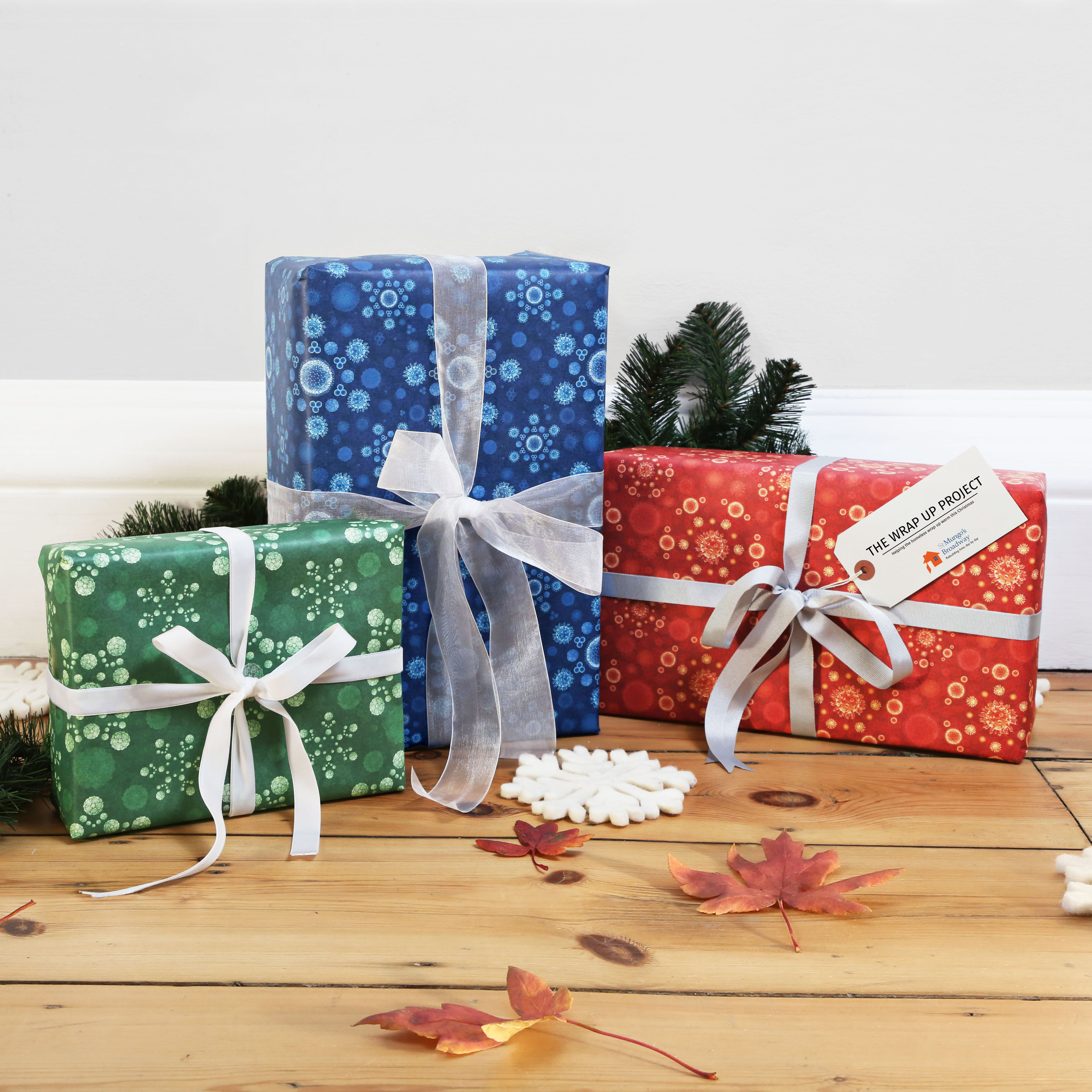 "FIRST EVER ""INFECTIOUS"" WRAPPING PAPER GOES ON SALE ON NOTONTHEHIGHSTREET.COM TO HELP HOMELESS PEOPLE THIS"