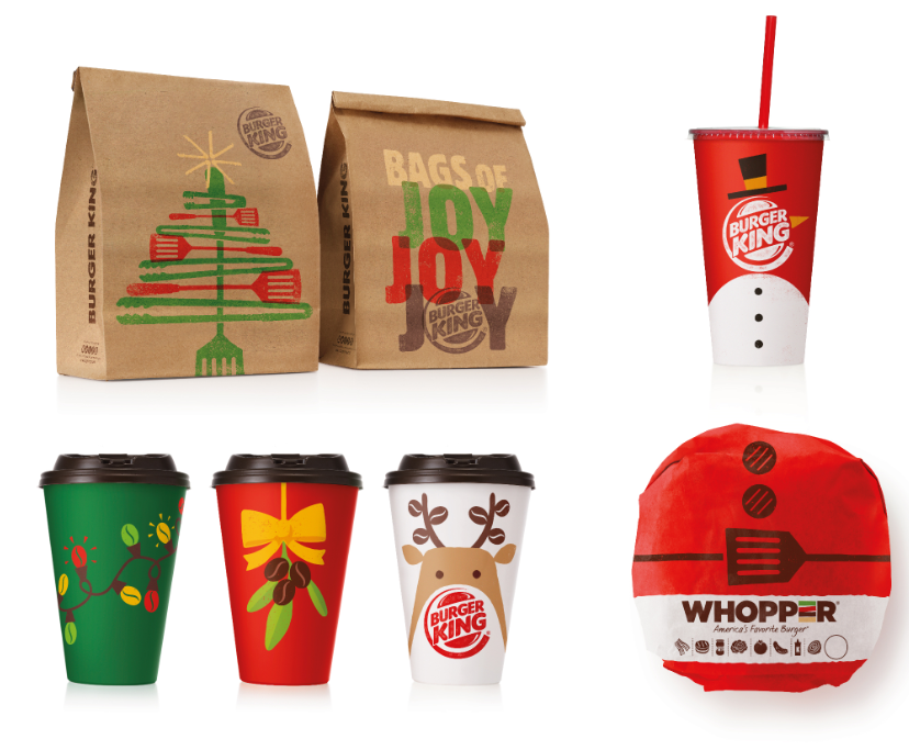 Burger King® Resturaunts launch new Christmas menu & packaging