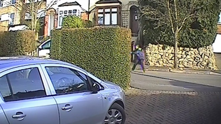 COURIER MOWED DOWN AS SHE TRIES TO STOP VAN BEING STOLEN