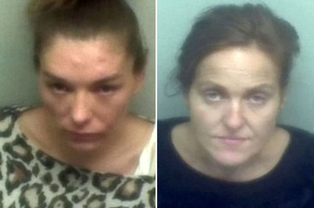 SCUMBAG WOMEN STOLE FROM ELDERLY LADY BY CUDDLING HER